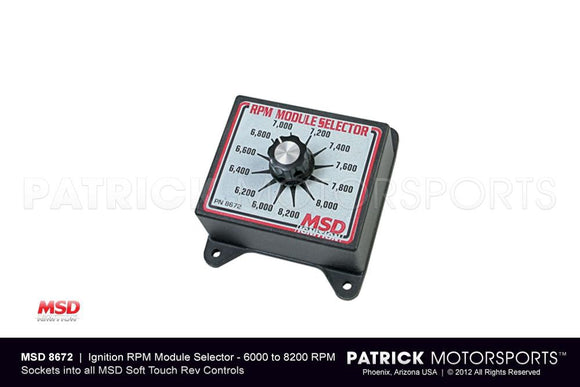 IGNITION RPM MODULE SELECTOR SWITCH - (6000-8200 RPM) MSD- IGNMSD8672