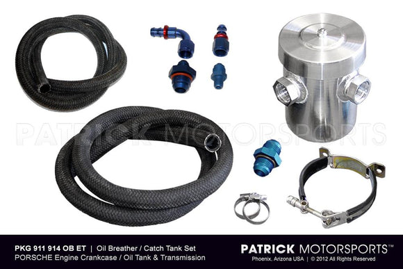 OIL BREATHER CATCH TANK SET FOR ENGINE CRANKCASE AND TRANSMISSION- OIL911914OBET