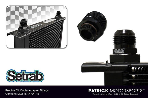 ADAPTER FITTING - (M22 TO AN-06) - FOR SETRAB PROLINE OIL COOLERS- OILSET22M22AN06SE