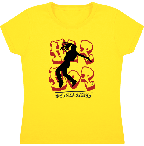 Tee Shirt Fille Hip Hop Girl- Col Rond Manches Courtes pour Studio Danse FINAL - DUST ON ROAD