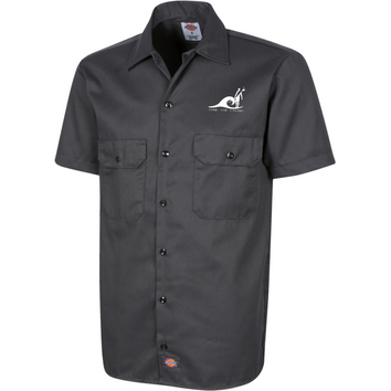 "Dickies Chemise Brodée à manches courtes pour Homme - "" Gone For Living"" Dust On Road - DUST ON ROAD"