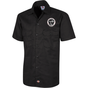 "Dickies Chemise à manches courtes brodée pour Homme - ""Motorcycle"" Dust On Road - DUST ON ROAD"