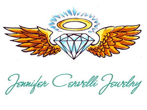 Jennifer Cervelli Jewelry Logo - Diamond with Halo and Wings