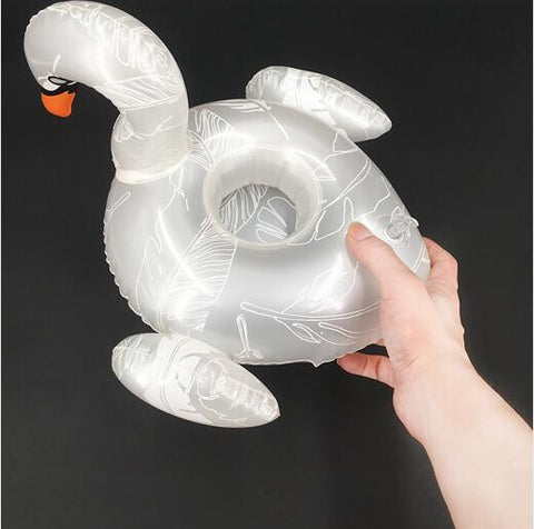Inflatable Pool Coaster: Swan