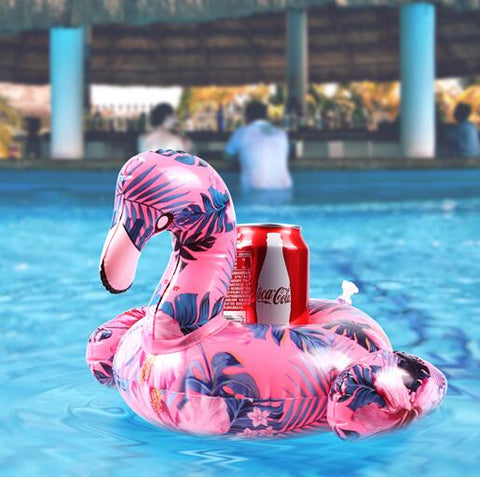 Colorful Flamingo Inflatable Pool Coaster