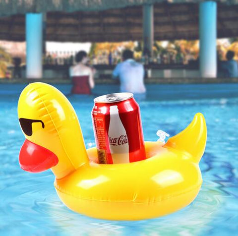 Inflatable Pool Coaster: Yellow Duck with Sunnies