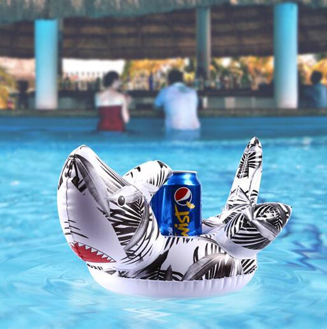 Inflatable Pool Coaster: White Shark