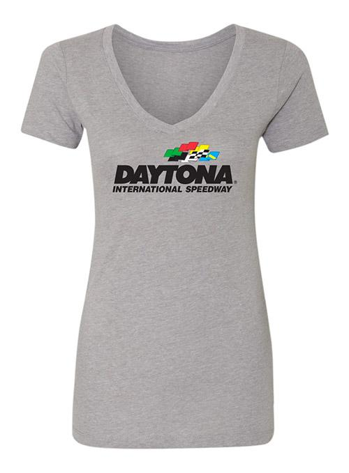 Ladies Daytona International Speedway Ideal V T-Shirt