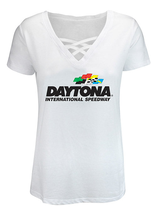 Ladies Daytona International Speedway Cage Front T-Shirt