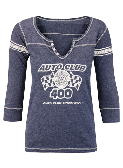 Ladies 2019 Auto Club 400 3/4 Sleeve T-Shirt