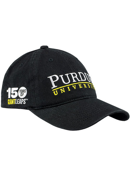 Purdue 150th Anniversary Unstructured Adjustable Hat, Click to See Larger Image