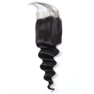 One More Peruvian Loose Deep Wave Hair 3 Bundles with 4*4 Lace Closure - OneMoreHair