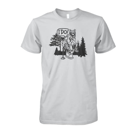 Image of Bear In The Woods Tee - Ash Grey / S - Short Sleeves