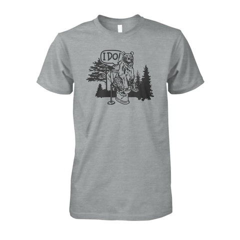 Image of Bear In The Woods Tee - Sport Grey / S - Short Sleeves