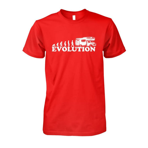 Image of Evolution Camper Tee - Red / S - Short Sleeves