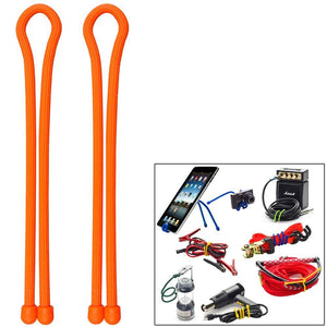 Nite Ize Gear Tie 18 - Bright Orange 2 Pack - Outdoor