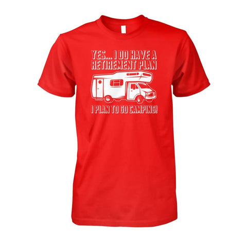 Retirement Plan Tee - Red / S - Short Sleeves