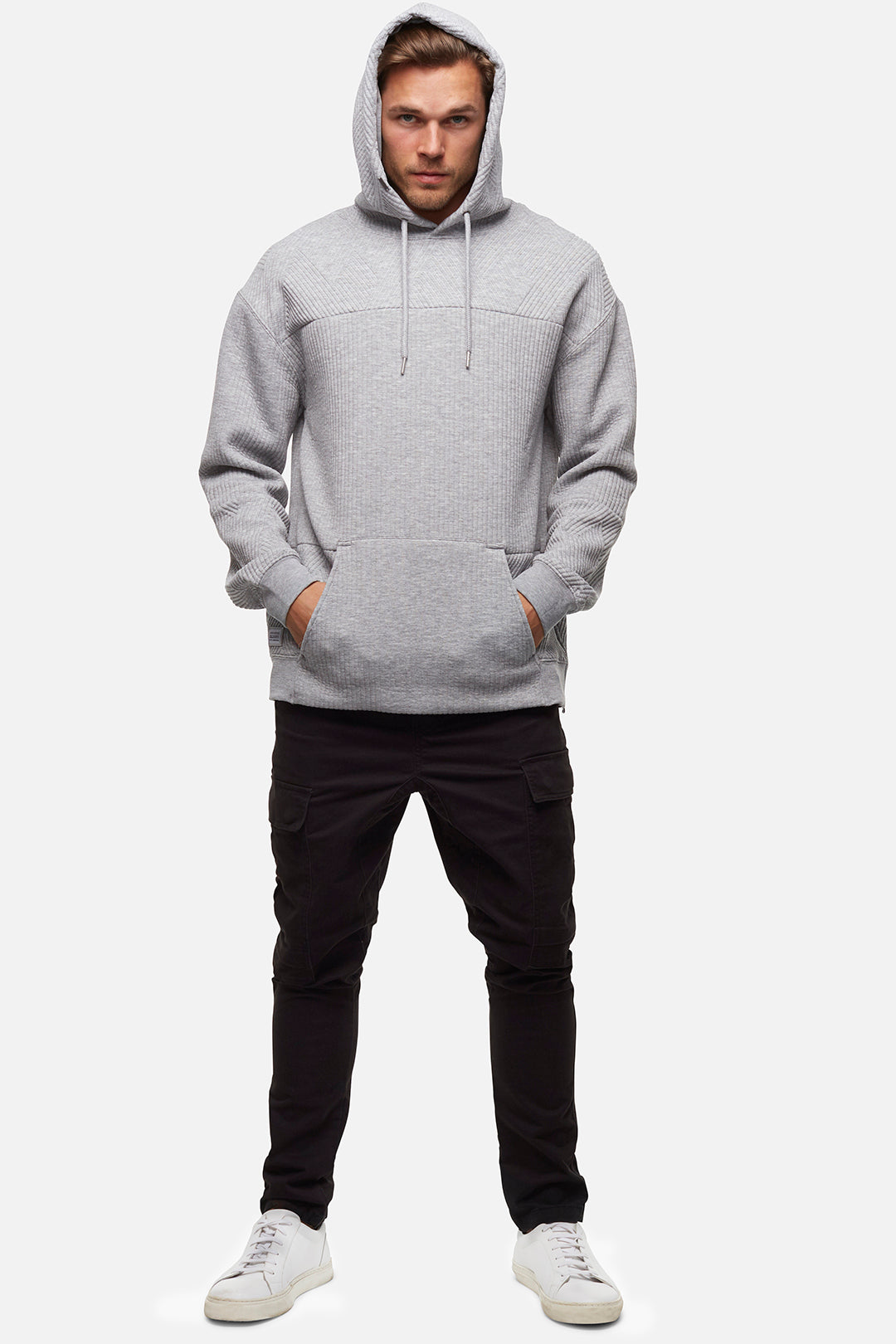 The Liston Hoodie - Light Marle Grey