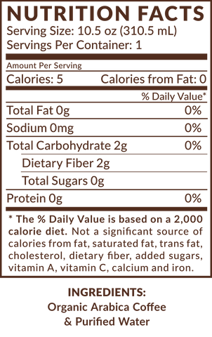 Triple Jack Nitro Coffee Nutrition Facts