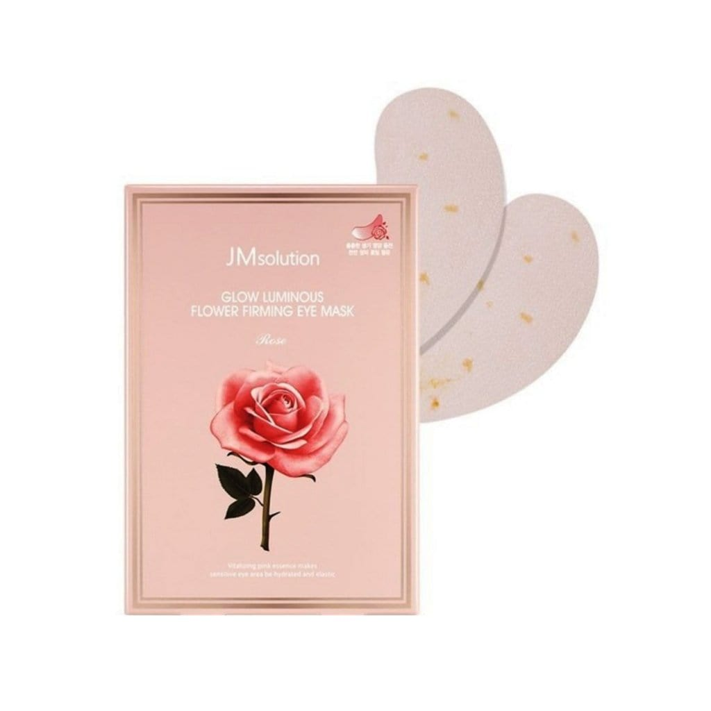 JMSOLUTION Glow Luminous Flower Firming Eye Mask Rose - lamisebeauty