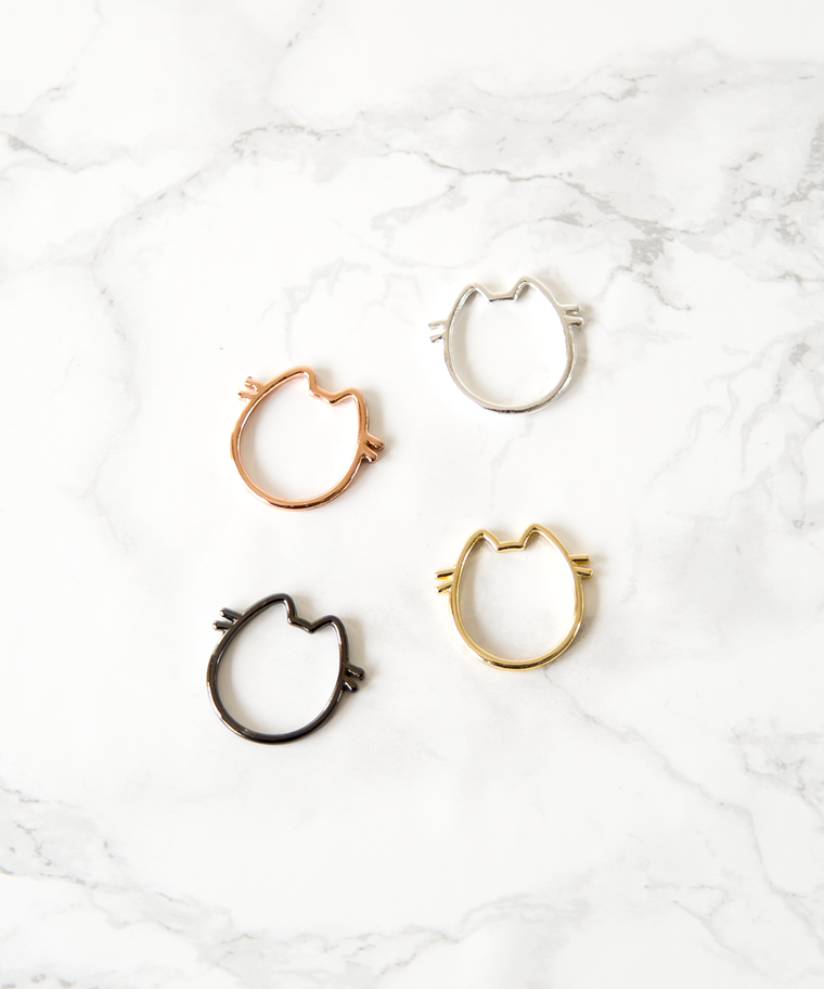 Pusheen Ring Set
