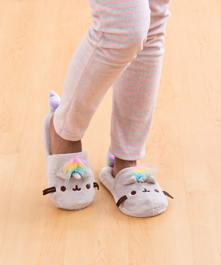 Pusheenicorn Plush Slippers