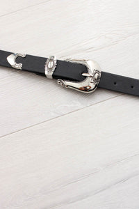 Black Western Buckle Belt - little-lies-uk