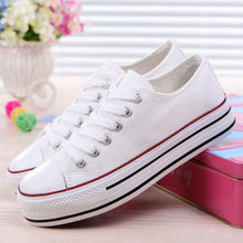 Load image into Gallery viewer, Plain  Flat  Criss Cross  Round Toe  Casual Sport Sneakers