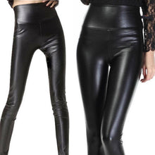 Load image into Gallery viewer, High Waist PU Slim Fitting Legging Pants