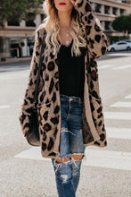 Load image into Gallery viewer, Collarless  Flap Pocket  Leopard Printed Cardigans