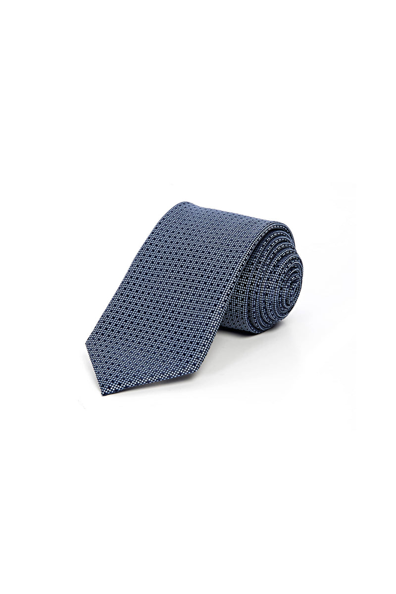 Romano Botta Navy Silver Silk Touch Tie