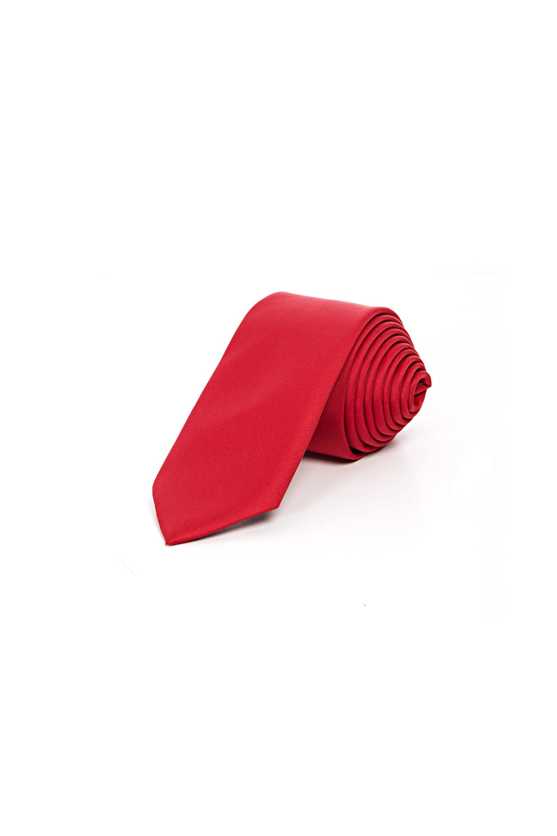 Romano Botta Trump Red Silk Touch Plain Tie