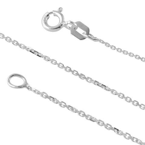 STERLING SILVER DIAMOND CUT CABLE 019 CHAIN (0.7MM)