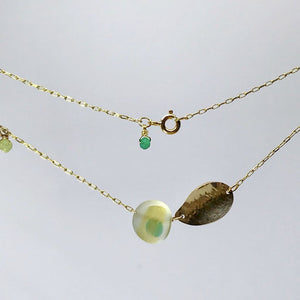 Multi-coloured Seaglass Charm Necklace. - jewellery - 14ct gold 14k-gold anniversary anniversary gift gifts for seaglass lover