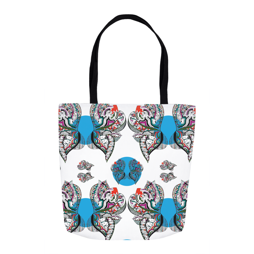 Tote in Butterfly (Blue Drops)