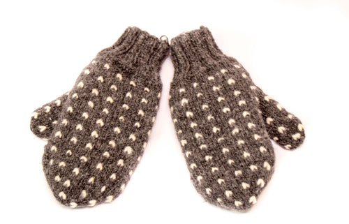 Thrum Mittens (Grey)