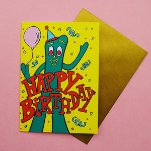 Gumby Birthday Card
