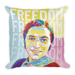 Freedom - Rosa Parks Throw Pillow - 18x18""