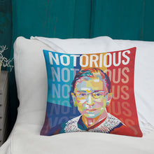 Load image into Gallery viewer, Notorious RBG - Ruth Bader Ginsburg Throw Pillow – 18×18″