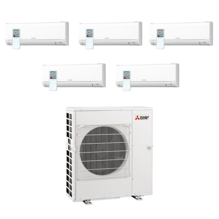 Mitsubishi MXZ5C42NA-5WS-05- 42,000 BTU MR SLIM Penta-Zone Ductless Mini Split Air Conditioner Heat Pump 208-230V(6-6-6-6-24)