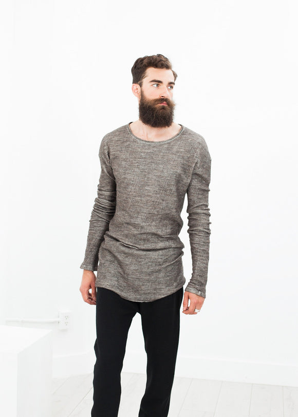 Extra Long Sleeve Sweater in Cavern