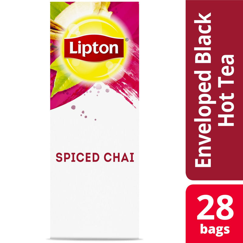Lipton Hot Tea Bags Spiced Chai 28 Count, Pack of 6