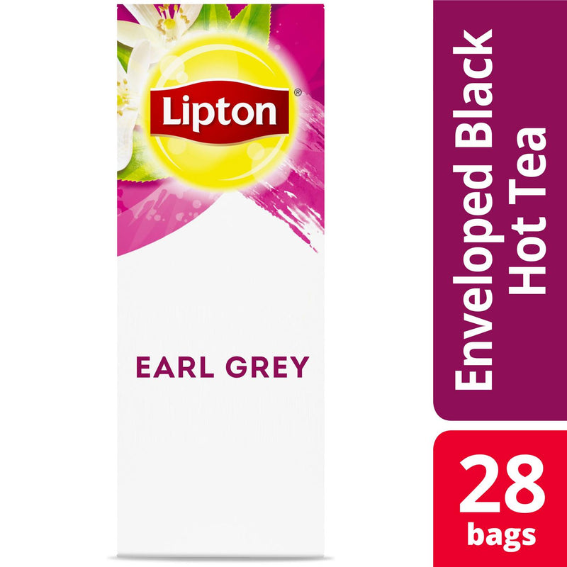 Lipton Hot Tea Bags Earl Grey 28 Count, Pack of 6
