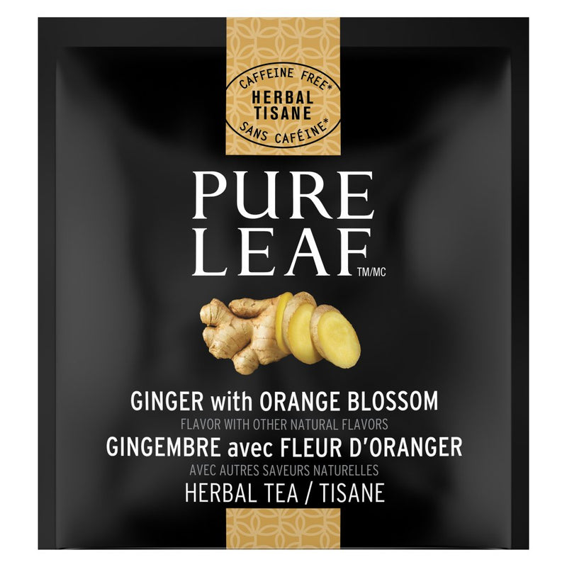Pure Leaf Hot Tea Bags Ginger with Orange Blossom 20 Count, Pack of 6