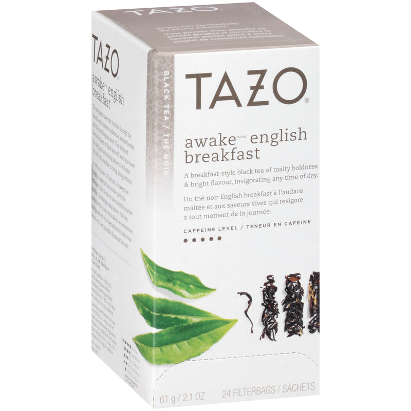 Tazo Hot Tea Filterbag Awake English Breakfast 24 count Pack of 6