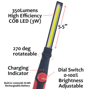 AmeriLuck Dimmable Rechargeable LED Work Light