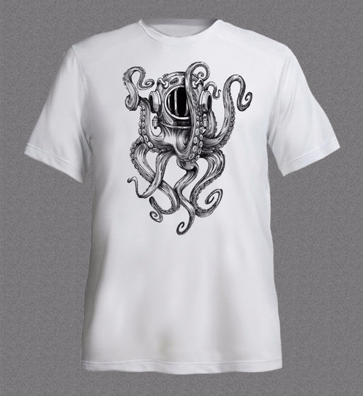 T-Shirt: Octopus In Diver's Helmet