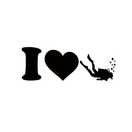 Sticker: I Love Diving