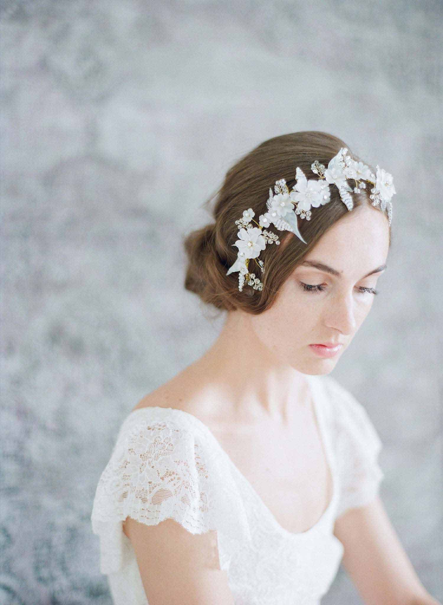 Lightness and frost floral headpiece - Style #733