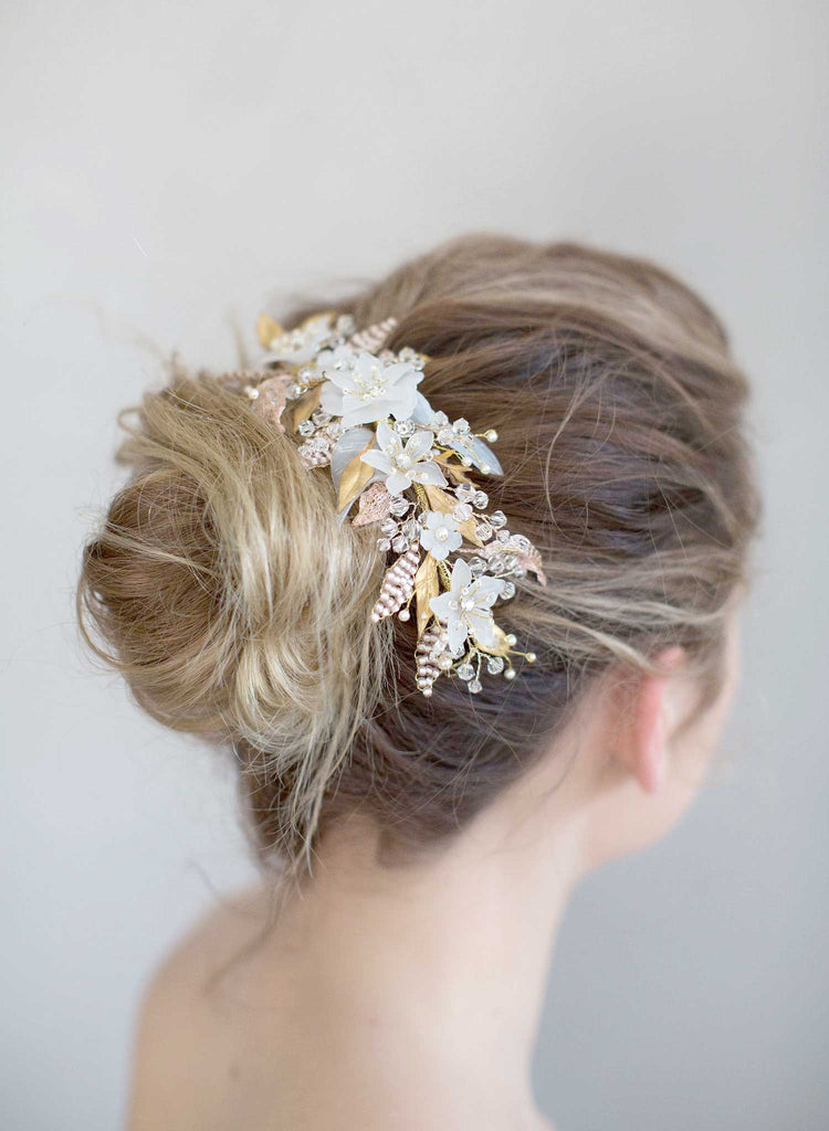 sugary sweet headpiece, bridal headpiece, hair adornment, wedding headpiece, twigs and honey